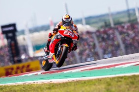 AUSTIN, TX - APRIL 14: Jorge Lorenzo of Spain rounds the bend during the Finals at MotoGP Red Bull U.S. Grand Prix of The Americas at Circuit of The Americas on April 14, 2019 in Austin, Texas. // Christian Pondella/Red Bull Content Pool // AP-1Z1M62QY11W11 // Usage for editorial use only // Please go to www.redbullcontentpool.com for further information. //